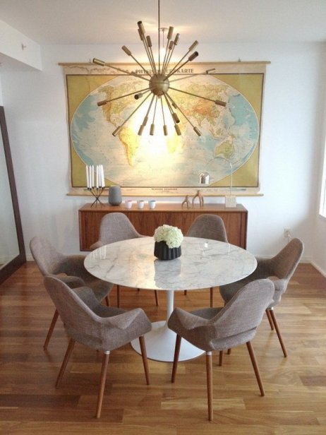 mid-century-modern-furniture-dining-room-design-ideas-round-table-chandelier